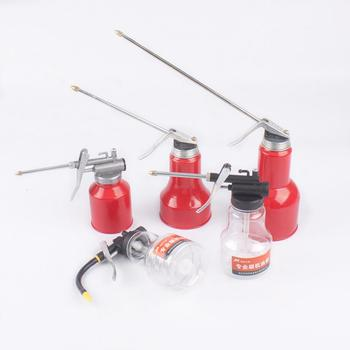 Oil Can Transparent High Pressure Oiler Lubrication 250ml Oil Can Bottle Manual Oiling Gun With Rigid Spout Thumb Pump Too TSLM1 1