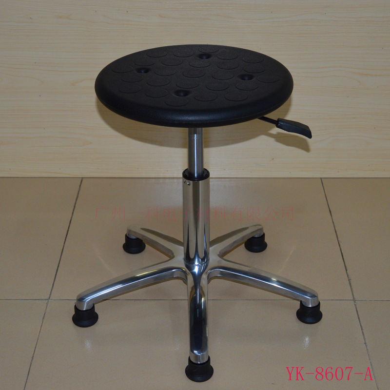 Production Made Anti-static Work Stool Workshop Height Adjustable Round Stool Clean Stool Laboratory Round Stool Currently Avail
