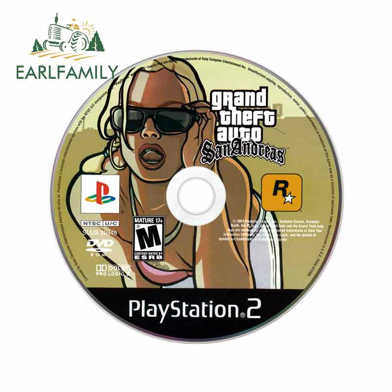 EARLFAMILY 13cm X 13cm For Gta San Andreas Vinyl Graphic Decal Funny Car Stickers Body For Car Anime Scratch-Proof Decoration