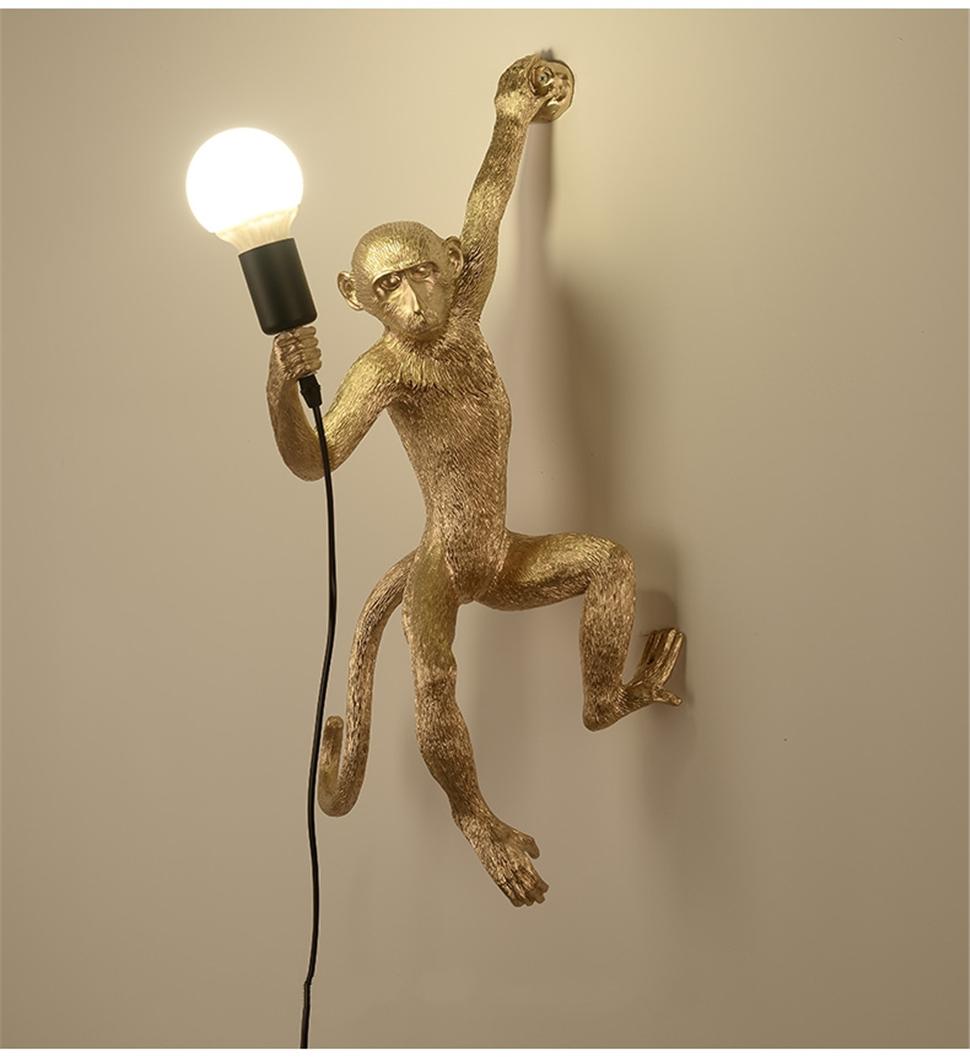 Modern Monkey Wall Lamp For Living Room Free