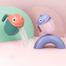 Cartoon Baby Shampoo Tasse Dusche Cap Kleinkind Kinder Löffel Dusche Bad Kopf Bewässerung Flasche Haar Waschen Hut Bad Zubehör