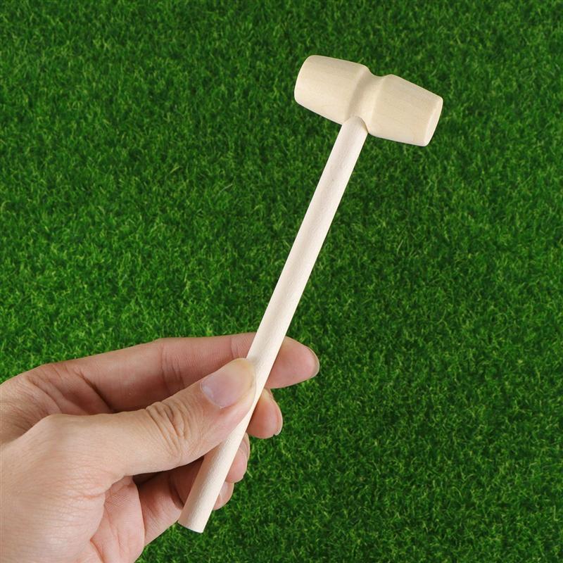 12 pces criança brinquedo de madeira mallet mini martelo bonito criança de madeira maciça martelo de madeira brinquedo