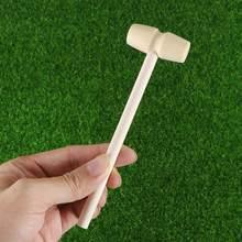 12 szt. Dzieciak drewno młotek zabawka mały uroczy młotek dziecko z litego drewna młotek drewniany młotek zabawka