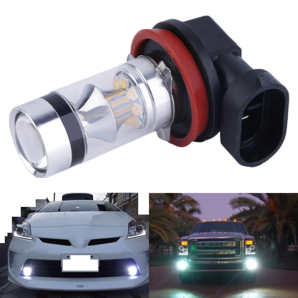 New Super Bright 100W 1000LM XBD H11 LED Fog Light Car Vehicle Head Light Car Side Wedge Tail Light Lamp Bulb