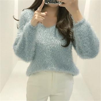 Ailegogo New 2019 Autumn Winter Women's Sweaters Loose Casual Fashionable Minimalist Tops Korean Style Knitting Ladies SW9160 5