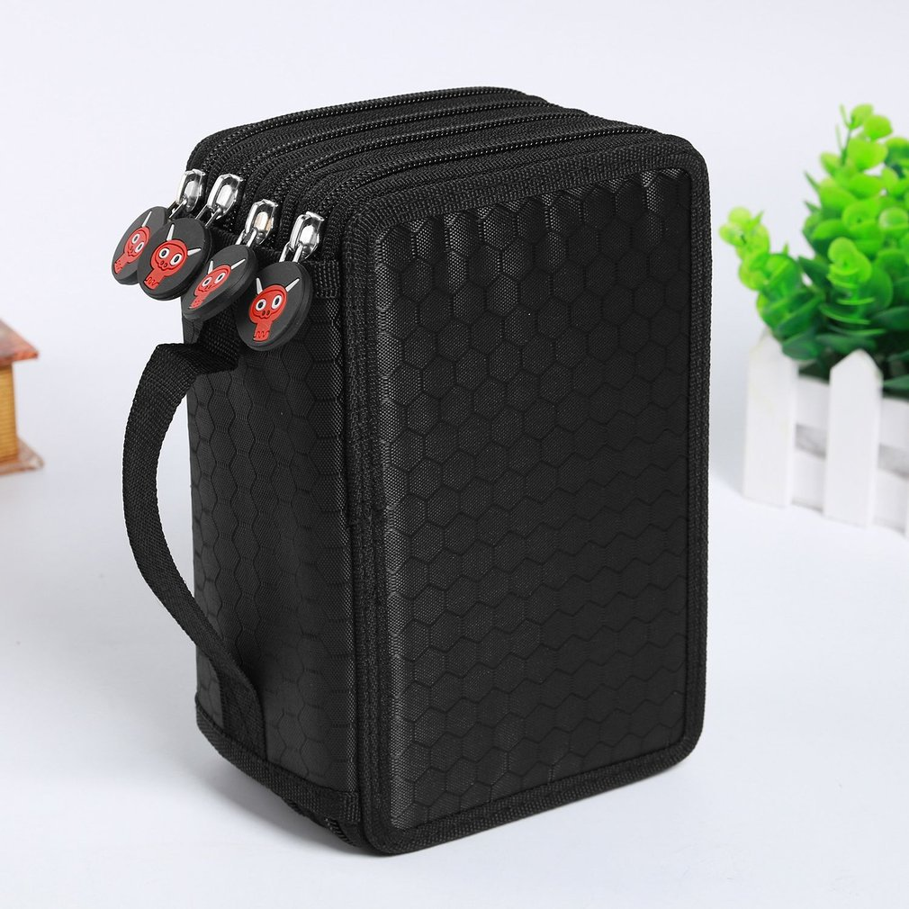 Pencil Bag Zipper Drawing Sketching Pen Storage Case Multilayer 72 Holes Multifunction Pencilcase Office School Stationery