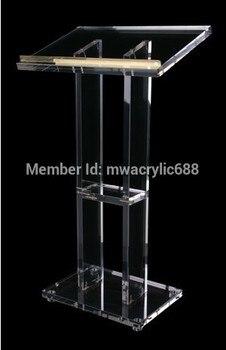 説教壇 furnitureFree 無料人気美しい事務所モダンなデザイン格安透明アクリル Lecternacrylic 説教壇プレキシガラス -
