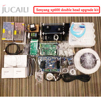 Jucaili large printer xp600 upgrade board kit for dx5/dx7 convert to xp600 double head complete kit for eco solvent printer