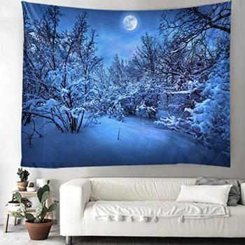 3D Snow Wall Hanging Bedroom Nature Landscape Tapestry