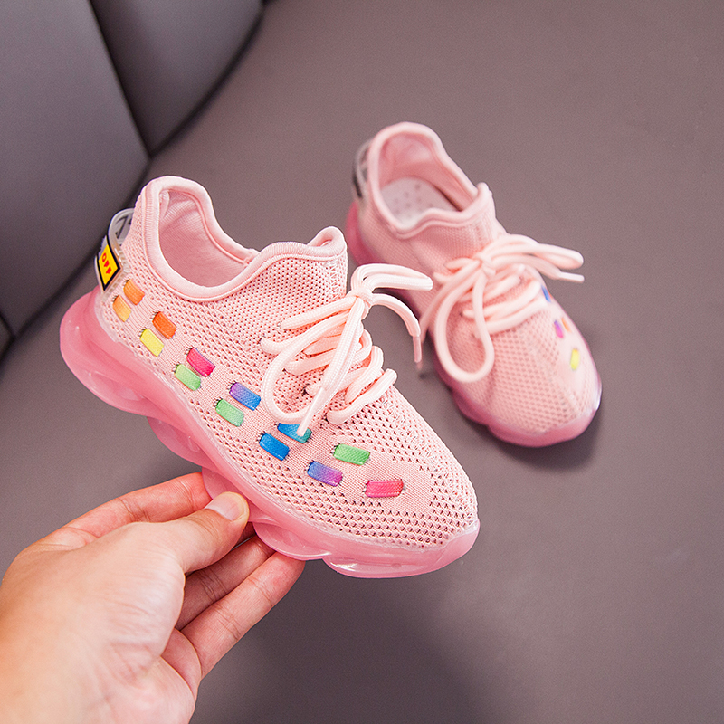 Casual Child Sneakers Kids Shoes Summer Children's Luminous Shoes Boys Breathable Mesh Trainers Outdoor Sports Chaussure Enfant
