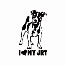 Car Sticker Cartoon Dog Jack Russell Terrier Creative Puppy Exterior Accssories Vinyl Decal for BMW VW Audi Gti Skoda,15cm*9.2cm недорого