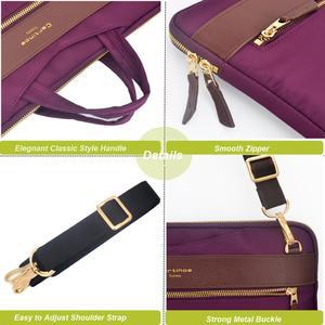 Image 5 - Laptop Bag 13.3 Inch For Macbook Pro 13 Bag Women Laptop Sleeve For Macbook Air 11/13 Notebook Bag with Removable Shoulder Strap