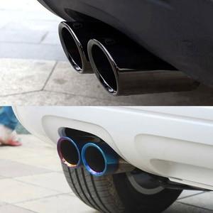 1pc/2Pcs Auto Car Exhaust Muffler Tip Pipes Covers Fit for VW Tiguan Passat B7 CC Audi A3 8P A4 B8 Q5 A1 Car Accessories