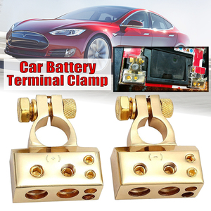1 пара, 0/4/8 Awg датчик, автомобильный зажим с положительным отрицательным аккумулятором