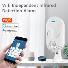 WIFI Infrared Sensor Work With Google Assistant Amaz Alexa Tuya APP PIR Detector Alarm Battery Charger Universal