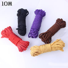 10 meter Cotton Rope Bondage Sex Rope Wrist Ankle Hand Restraints Bed Restraint Couple Restraint BDSM Sex Toys(China)