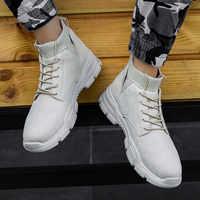 Nouveau Hommes haut-top Martin bottes résistant à l'usure baskets Krasovki Mocassin grande taille Hommes Chaussures décontractées Chaussures Pour Hommes