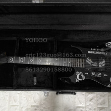 Top Quality black Color black hardware Kirk Hammett Ouija beautiful Electric Guitar, customized!PayPal available!es-2