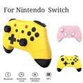 Para nintend switch pro controlador de jogo sem fio controlador universal gamepad uma chave wake-up leve 2 cores