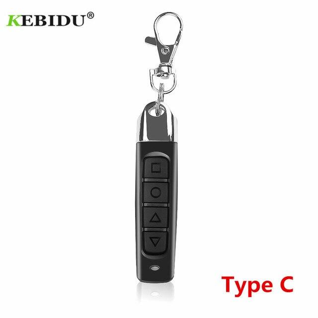 KEBIDU mando a distancia para puerta de garaje, 4 botones, 433MHZ, Control remoto automático, controlador de copias eléctricas, interruptor transmisor