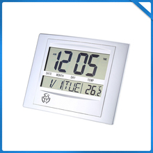Digital Number LCD Calendar Wall Alarm Clock with Snooze Thermometer Hygrometer Digital Lcd Home Office Decor Wall Clock Indoor