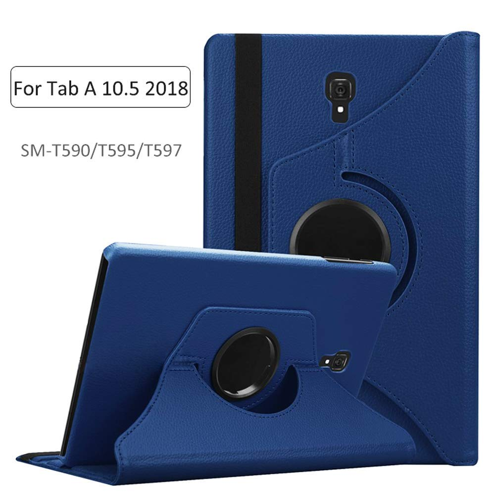 Tablet Case For Samsung Galaxy Tab A 10.5 2018 SM-T590 SM-T595 T597 360 Degree Rotating Stand Flip Pu Leather Protective Cover