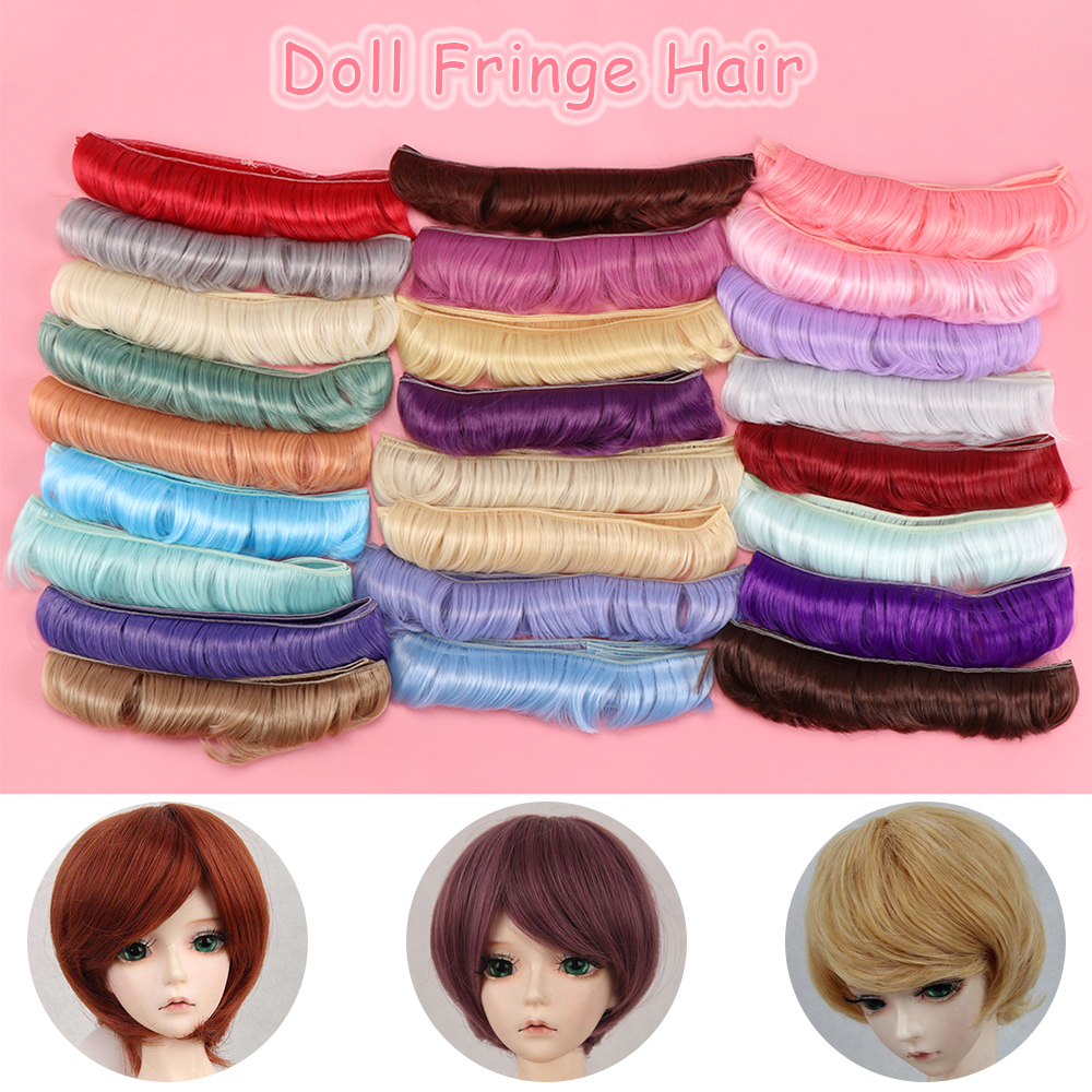 5cm fringe doll natural hair DIY wigs for  handmade doll bang doll wig V!