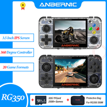 ANBERNIC RG350 Retro Game Player Handheld Video PS1 Console 64Bit 3.5 Inch IPS 32G TF 2500+ Games RG 350 Portable Game Consola yoteen portable retro mini handheld game console 4 3 inch 64bit 3000 video games classical family game console retro arcade