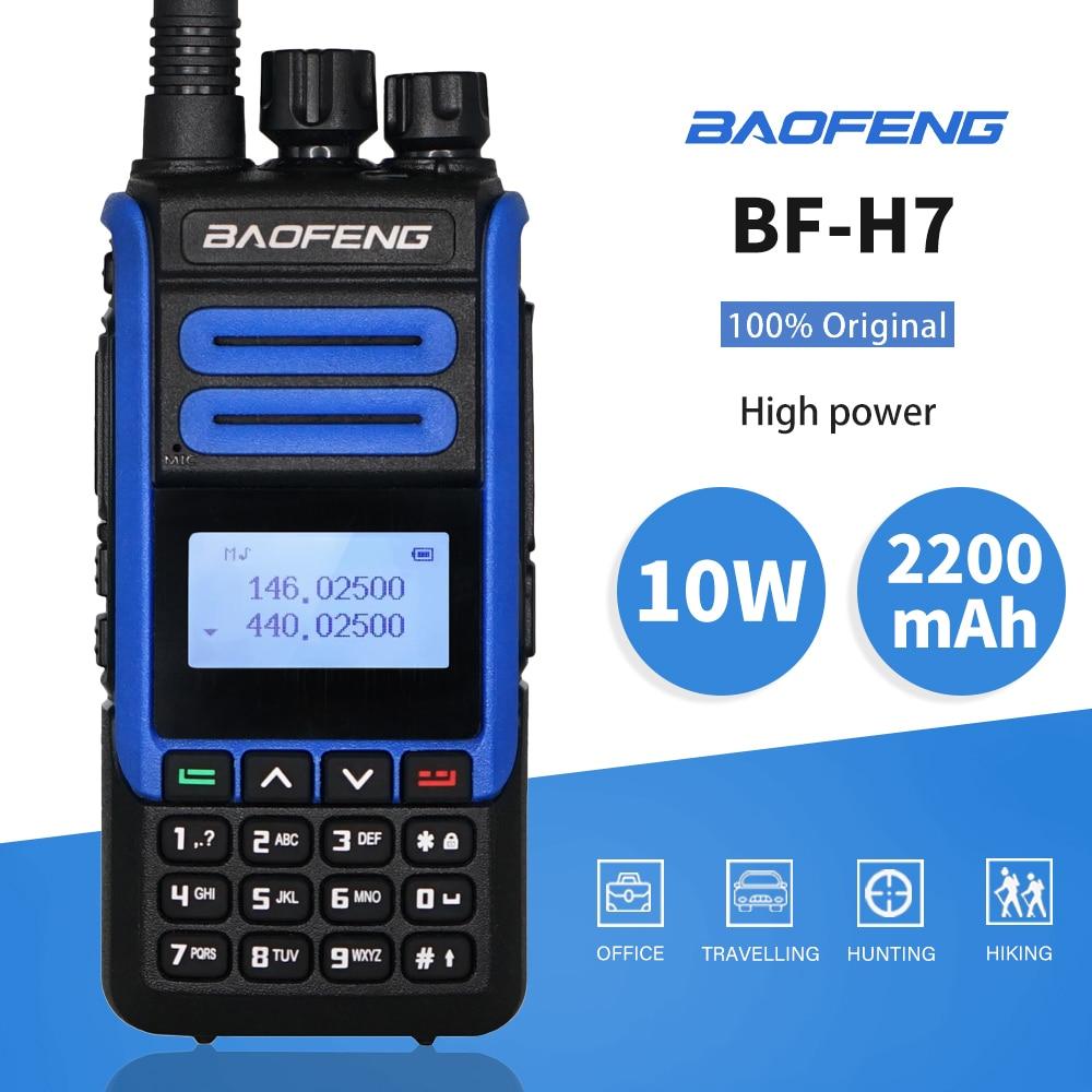 Портативная рация BaoFeng BF-H7 мощностью 10 Вт, портативное радио CB, FM-приемопередатчик 2020 мАч, двухдиапазонное двухстороннее Радио BF H7, передатчи...