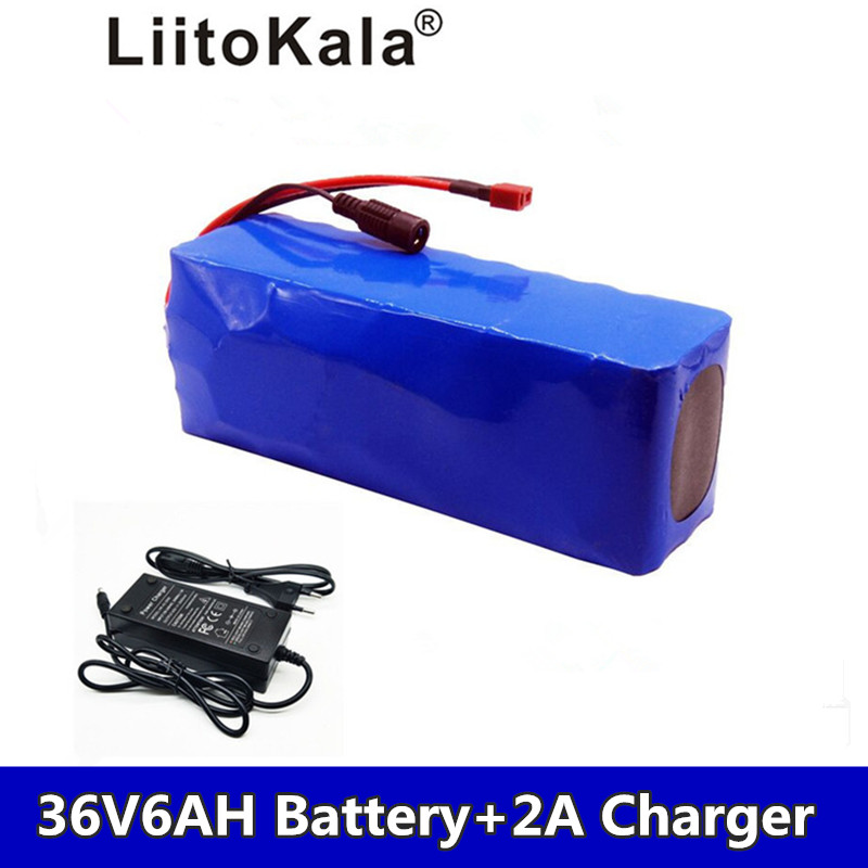 LiitoKala 36 v 8AH 36 6ah 500 w Lithium Battery 18650 v Electric Bicycle with PVC Box for Electric Bicycle Power v 2A 42 Char