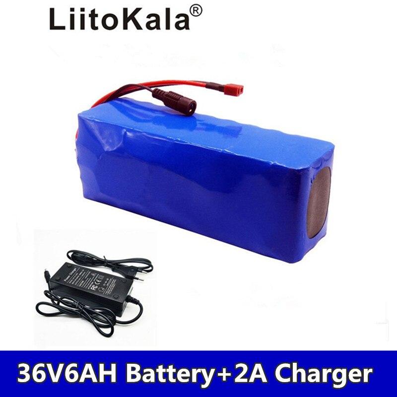 LiitoKala 36 v 8AH 36 6ah 500 w batterie au Lithium 18650 v vélo électrique avec boîte en PVC pour vélo électrique puissance v 2A 42 Char