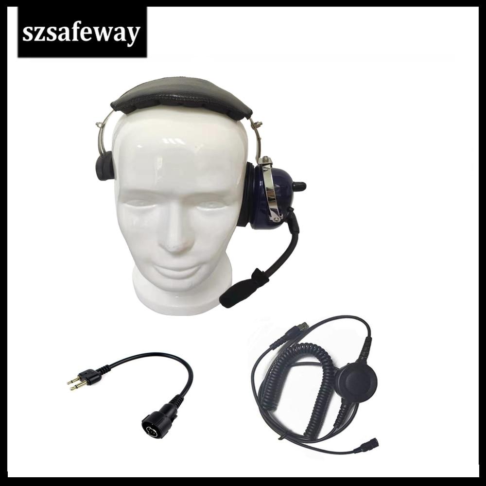 Noise Cancelling Headset For ICOM IC-V80 IC-V85 IC-F3 F4 IC-F20 IC-V82 Two Way Radio