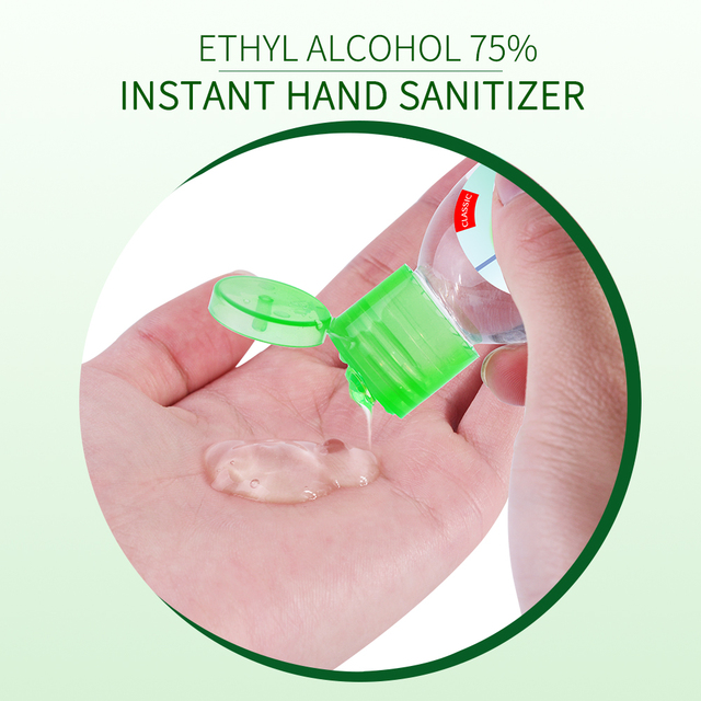 50ml Travel Portable Hand Sanitizer Gel Moisturizing Disinfection Anti-Bacteria Disposable No Clean Waterless Clear Hand Gel 5