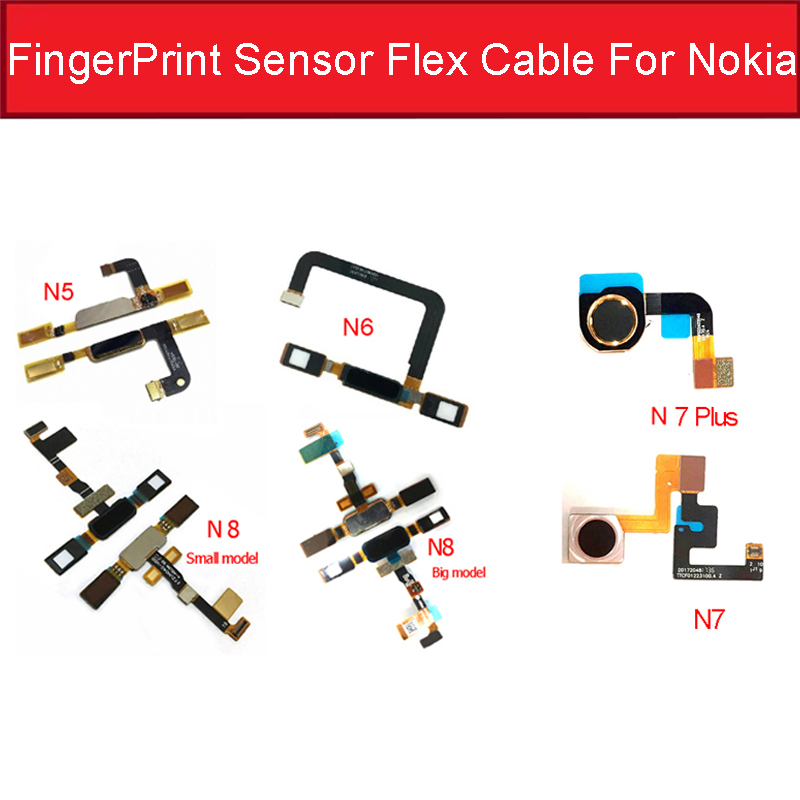 FingerPrint Sensor Flex Cable For Nokia 5 6 6.1 7 8 Home Touch ID Button Key Flex Ribbon Replacement Repair Parts