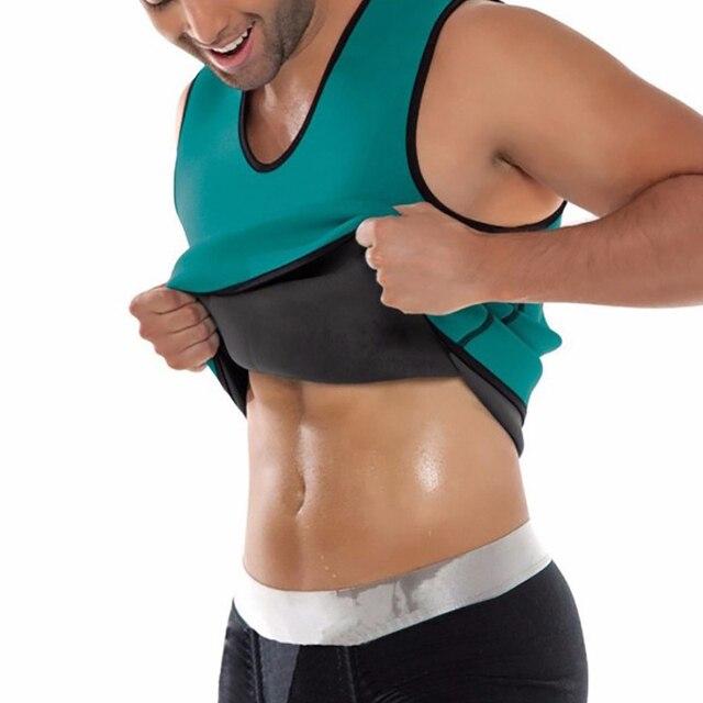 Men Workout Body Shaper Waist Trainer Tummy Slimming Sheath Abs Abdomen Shapewear Tops Slimming Trimmer Belt Vest Sweat Corset 2