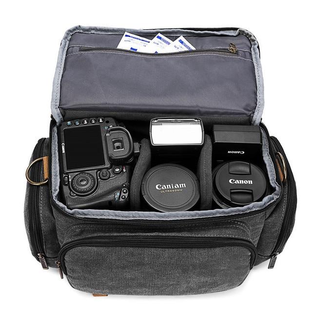 Sapan SLR fotoğrafçılık dijital omuzdan askili çanta erkekler/kadınlar açık TravelWaterproof naylon kamera postacı çantası kamera Lens için