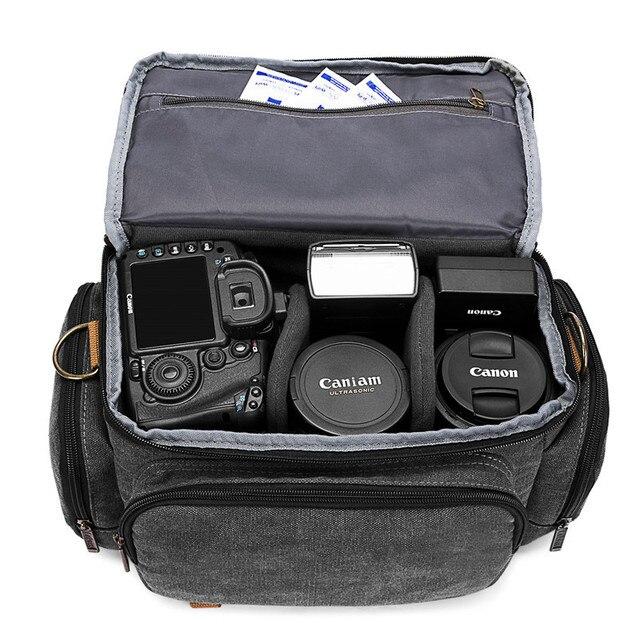 Sling slr fotografia digital bolsa de ombro homem/mulher ao ar livre travelwaterproof náilon câmera mensageiro bolsa para lente da câmera