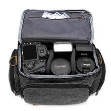 슬링 slr 사진 디지털 어깨 가방 남자/여자 야외 travelwaterproof 나일론 카메라 메신저 핸드백 카메라 렌즈