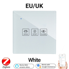 Tuya ZigBee 3.0 Smart Wall Touch Switch Smart Dimmer/Fan/Curtain EU/UK Switch Voice Control Work With Alexa And Google Home