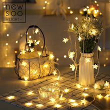 YINUO LIGHT 10/20/100 LED Star String Lights Fairy Garland Led Decoration Christmas Tree Wedding Home Indoor