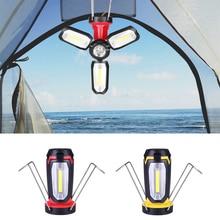 USB Перезаряжаемый светодиодный светильник-вспышка для кемпинга, фонарь, светильник, портативный светильник для палатки, красный/желтый