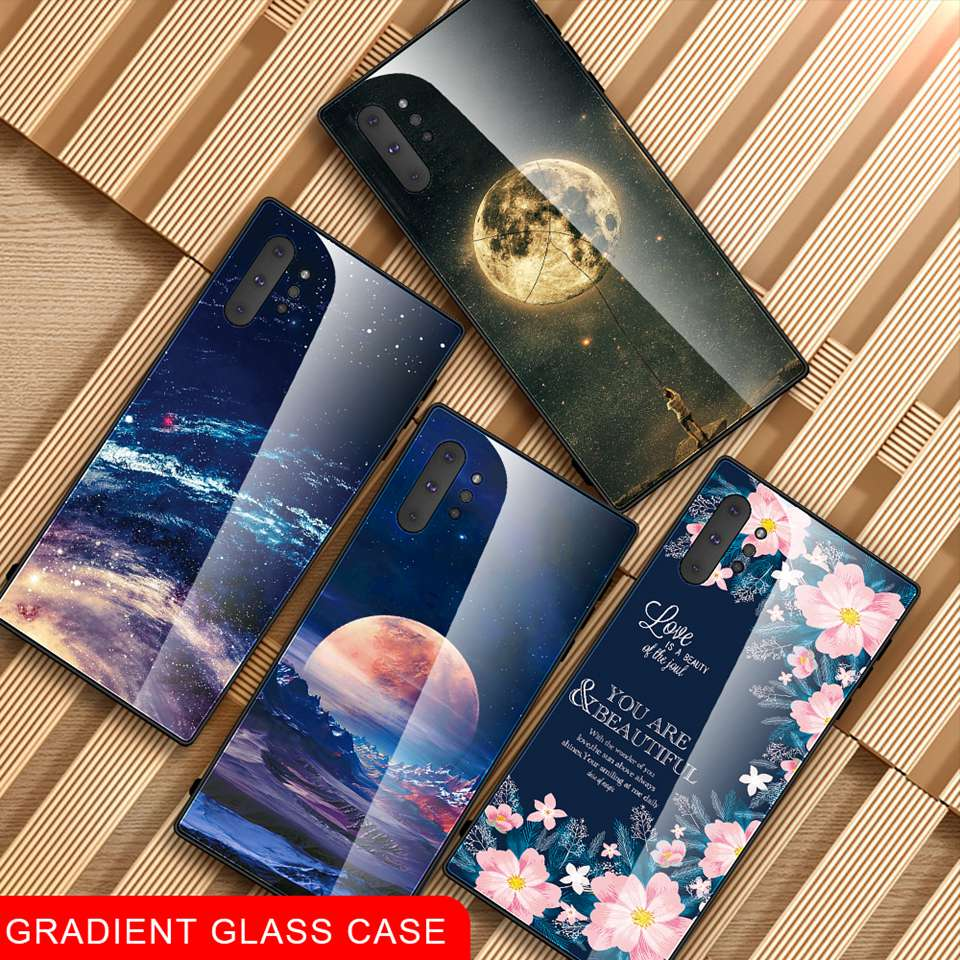Luxury Glass Case For Samsung Galaxy Note 10 Pro 9 8 Note10 A50 A70 A50s A30s A30 A20 A10 J4 A7 2018 S8 S9 S10 Plus Phone Cover (13)