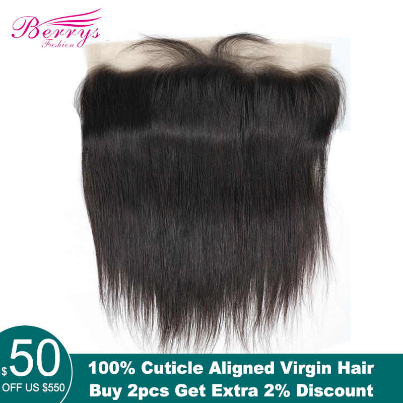 Virgin-Hair Lace-Frontal Berrys Fashion Straight 100%Human-Hair-Extensions Bleached Brazilian