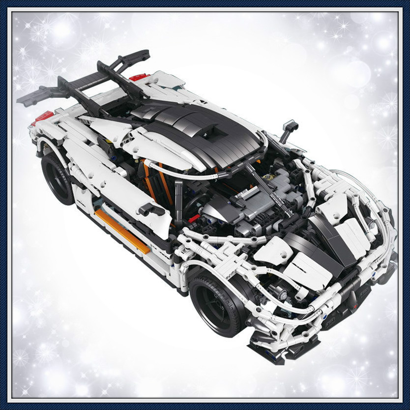 Toys for Children's Birthday Gifts <font><b>23002</b></font> Technic Race Car Building Blocks MOC-4789 Creator Bricks image