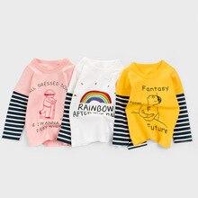 Children T-Shirts Tattoo-Tops Long-Sleeve Girls Cotton Boys Kids Autumn 2-7-Years New