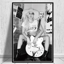 Modular Canvas Home Decor Lady Gaga Prints Painting Poster Pop Star Modern Wall Art Music Singer Pictures For Living Room Framed