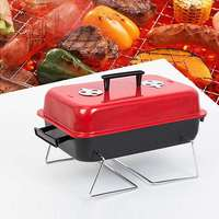 Household Barbecue Tools BBQ Grill Oven Aluminium Alloy Charcoal Grill Portable Party Accessories Outdoor Camping Picnic Burner
