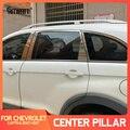 8 шт., накладки на окна из нержавеющей стали для Chevrolet Captiva 2007-2017