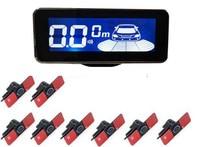 Sensor de estacionamento do carro parktronic 8 sensores automóvel invertendo radar eletrônica kit assistência apoio detector automático alarme voz|Sensores de estacionamento| |  -