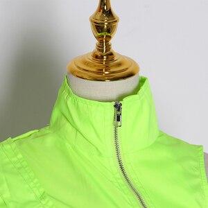 Image 5 - Женская уличная куртка TWOTWINSTYLE, короткая, с воротником стойкой и рукавами фонариками, на одно плечо, ассиметричное пальто, 2020